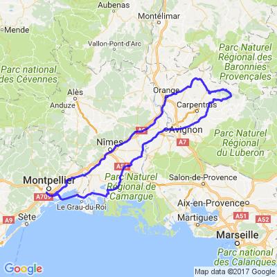 Direction Le Mont Ventoux