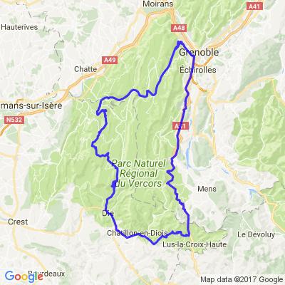Grenoble, tour du Vercors