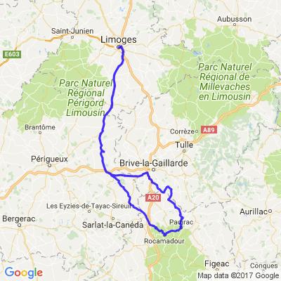 Limoges, Collonge la rouge, gouffre de padirac, rocamadour, Hautefort