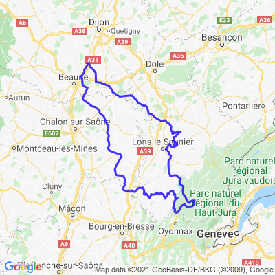 Boucle Nuits St-Georges - Vouglans