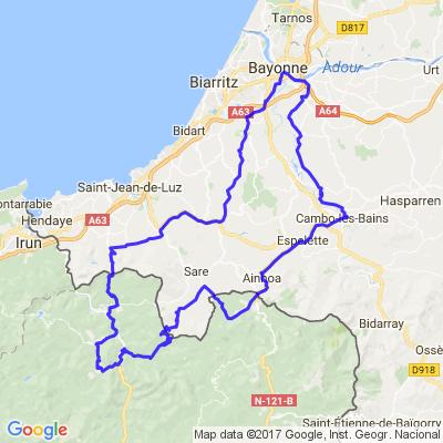 Les routes des cols de Basse-Navarre et Navarre : d'Ibardin à Lizarrieta