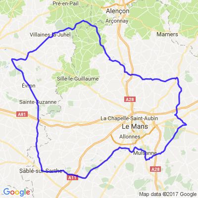 Le Mans - Mayenne - Orne et retour