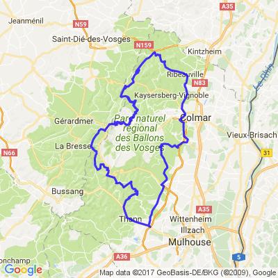 Route des vins d'Alsace et cols Vosgiens