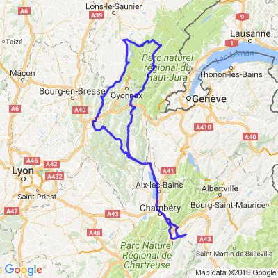 Gorges de l'Ain et Lacs du Jura