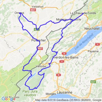 Gorges de la Loue, Lac Saint-Point, Vallée de Joux, Marchairuz, Mollendruz