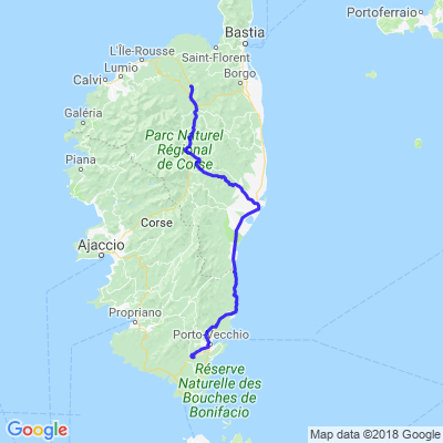 Corses 2018 sortie 3 descente dans le sud