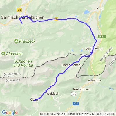 Garmisch Leutasch par Mittenwald