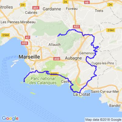 Marseille de haut en bas