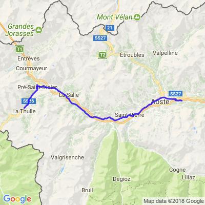 Garmisch retour 3/1  Aoste - La Thuile