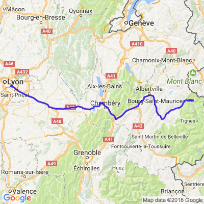 Garmisch Retour 3/2  Bourg St Maurice - Lyon