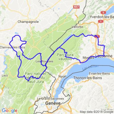Arc lémanique et crête du Jura