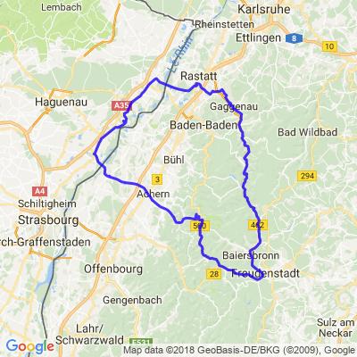 Dalhunden- Freudenstadt- Rastatt