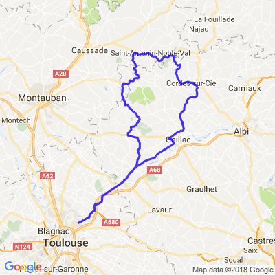Cordes cur ciel au départ de Toulouse