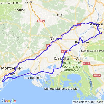 Montpellier / Avignon / Montpellier