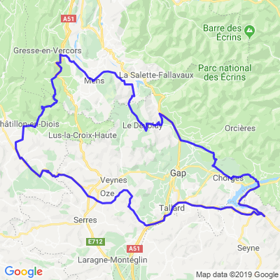 La route des Ravins: Lac de Serre-Ponçon - Parc régional du Vercors