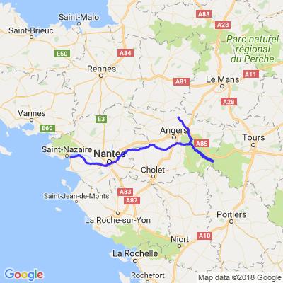 St Nazaire  - Bord de Loire -Saumur - Chateauneuf sur loire -