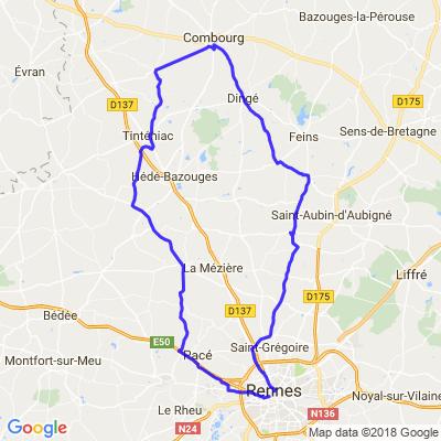 Boucle au Nord de Rennes