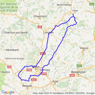 Balade Contrex Chateauneuf en Auxois