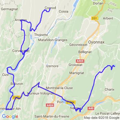 Découverte Jura, Ain (2/3 Cornod/Lac Genin)