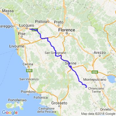 Toscane jour 1: Luques à Bagno Vignoni