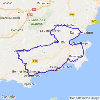 Petit tour entre terre et mer autour de Ste Maxime