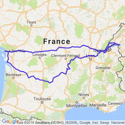 Traversée la France