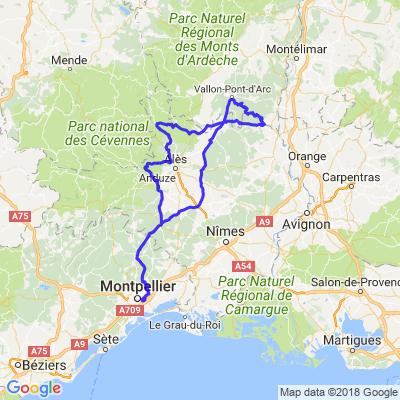 L'Ardèche à moto