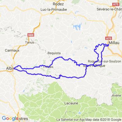 Boucle Albi - Millau