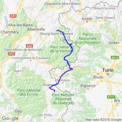 Jour 2 1/2 - 01/08 Bourg St Maurice --> Col d'Izoard - 190km - 3H00