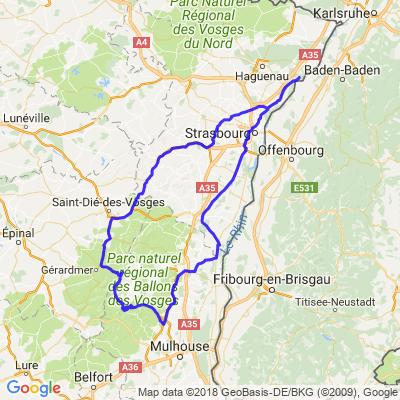 Route des Crêtes...retour au bord du Rhin