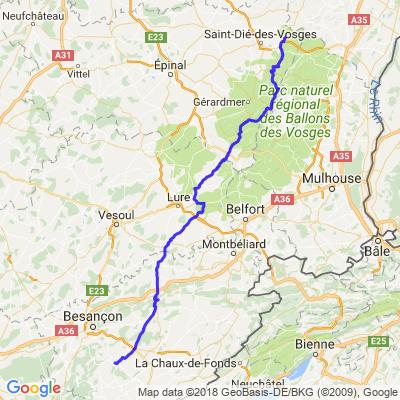 Balade Jura - Jour 1 - Partie 2a - Provenchères - Ornans par ballon des Vosges