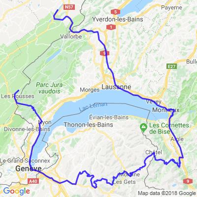 """jour2 : """"Lac des rousses"""" -> cols suisse -> """"lac Saint-point"""""""