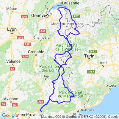 route des cols des Alpes