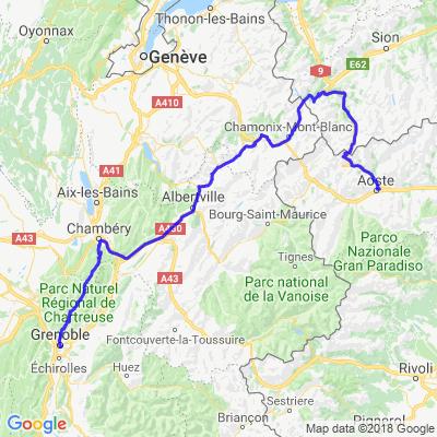 Tour du Mont Blanc Aller
