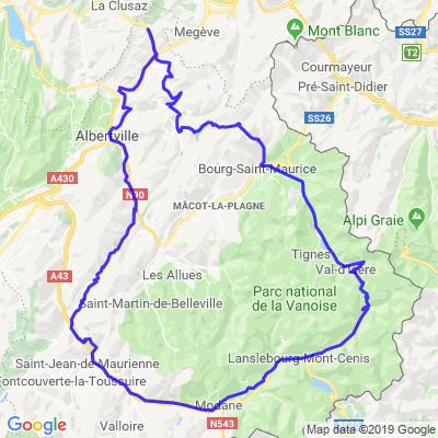 La Giettaz - Les Lacets de Montvernier - Col de l'Iseran - La Giettaz