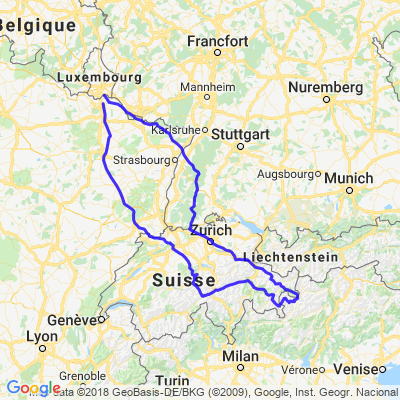 France-Allemagne-Suisse-Italie