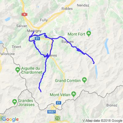 Culs de valles de Bagne et d'Entremont
