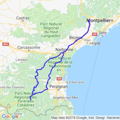 Le petit train jaune & gorges de Galamus depuis Clermont L'Hérault
