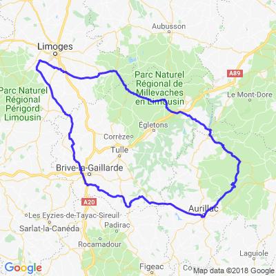 2 Jours de Limoges vers Aurillac
