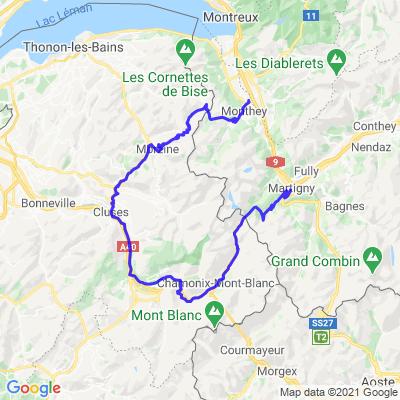 Col de la Forclaz, Col des Montets par Cluses