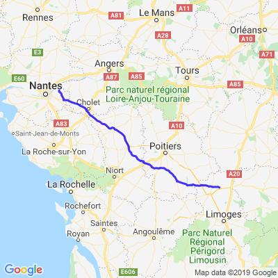 1/ Départ: La Chapelle Basse Mer/Magnac-Laval,Jeudi Matin 30.05.2019