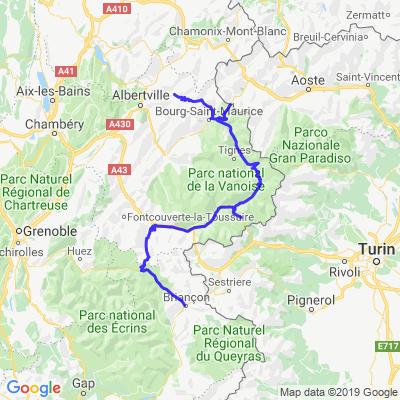 Route des grandes Alpes 2/5 jours