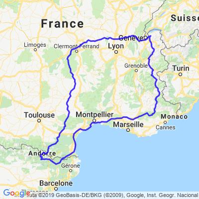 des alpes aux Pyrénées