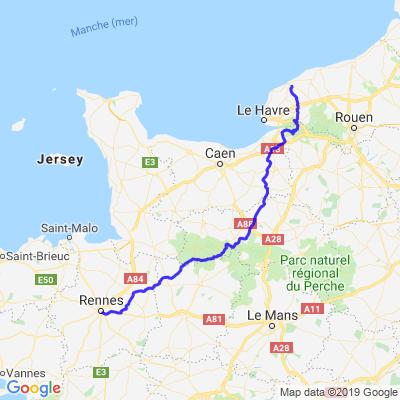 Rennes - Fécamp