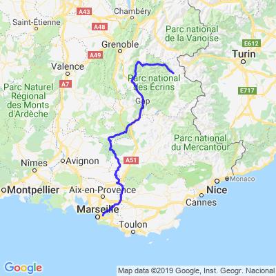 Jour 1 : Marseille-SerreChevalier