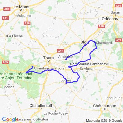 Circuit des dix châteaux de la Loire
