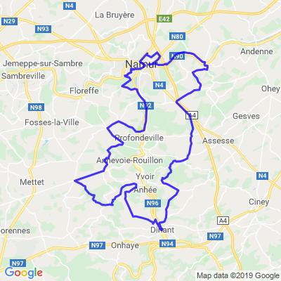 Namur - Dinant - Namur