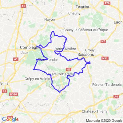 Entre Soissons, Villers et Compiègne.