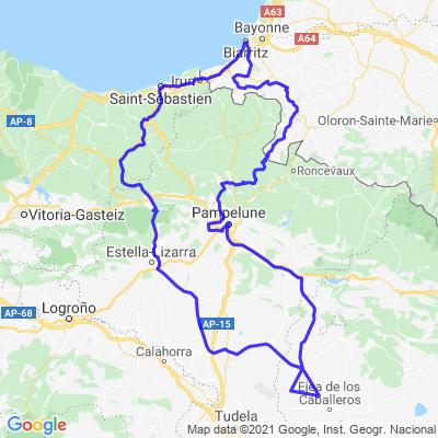Biarritz - San Sebastian - Bardenas - La Rhune - Biarritz