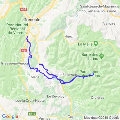 Route de Gioberney depuis la Mure